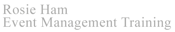 Rosie Ham Event Management Training